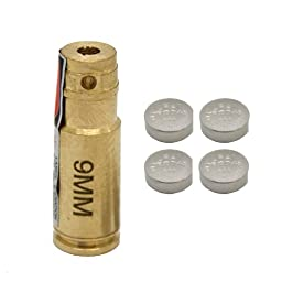 Aim Sports 9-mm Laser Bore Sighter, Small, Brass