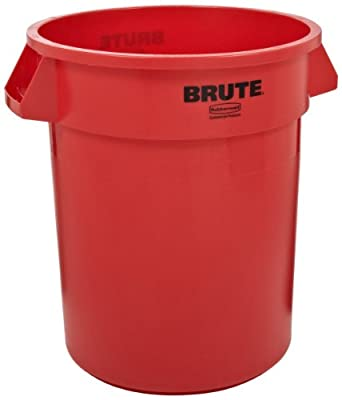 rubbermaid commercial fg265500red brute lldpe 55 gallon trash can without lid. Black Bedroom Furniture Sets. Home Design Ideas