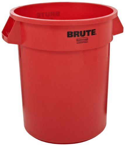 Rubbermaid Commercial FG265500RED Brute LLDPE 55-Gallon Trash Can without Lid, Legend Brute, Round