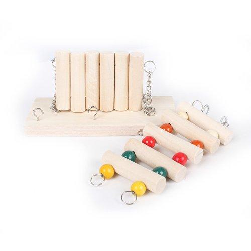A Set Funny Rat Bird Hamster Parrot Swing Bridge Ladder Wooden Toy Hanging Cage front-822748