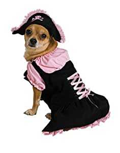 Dog Costumes - Pink Pirate Dog Costume Xtra Small Dog