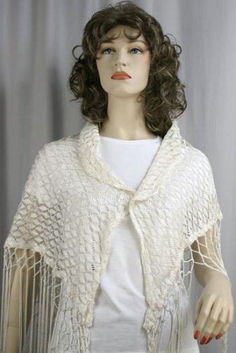 Crochet Flower Shawl - Exquisite knit & crochet designs with fine