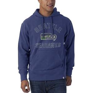 NFL Seattle Seahawks Vintage Logo Pullover Hoodie Striker Fleece by '47 Brand
