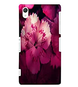 Fuson 3D Printed Flower Designer back case cover for Sony Xperia Z2 - D4496