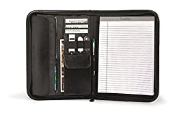 Vintage Leather Executive Zippered E-Padfolio for iPad/Tablet