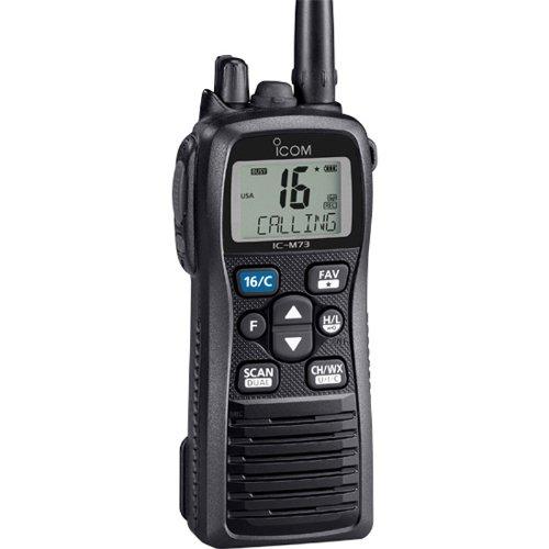 ICOM IC-M73 01 Icom IC-M73 01 Handheld VHF Marine Radio, 6 Watts