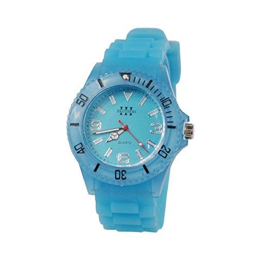 Neon Blue Silicon Glow In The Dark Watch