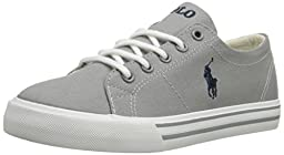Polo Ralph Lauren Kids Scholar Fashion Sneaker (Toddler/Little Kid/Big Kid), Grey, 5 M US Toddler