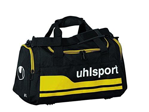 Uhlsport, Borsa sportiva Basic Line, Nero (Schwarz/Maisgelb), M