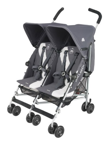 Why Choose Maclaren Twin Triumph Stroller, Charcoal/Silver