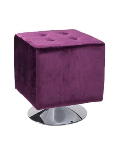 Armen Living Pica Square Ottoman, Purple