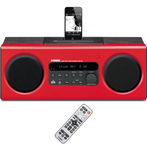 Black Friday Sales Yamaha TSX-112RE All-in-One Desktop Audio (Red)