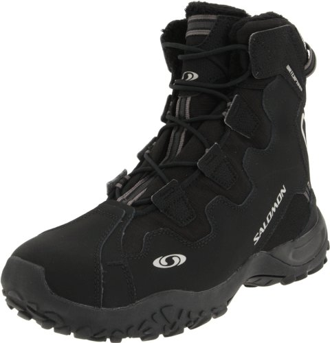 Salomon Men's Snowtrip TS WP Winter Shoe,Black/Black/Black,1