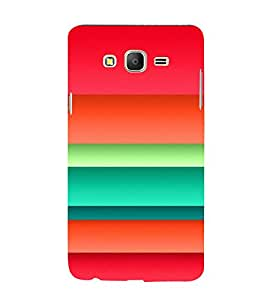 Colourful Layer Pattern 3D Hard Polycarbonate Designer Back Case Cover for Samsung Galaxy On7 G600FY :: Samsung Galaxy On 7 (2015)
