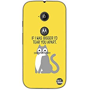 Designer Motorola Moto E2 3G Case Cover Nutcase-Crazy Cat