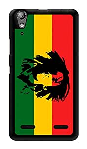 "Humor Gang Bob Marley Rasta Printed Designer Mobile Back Cover For ""Lenovo A6000 Plus"" (3D, Glossy, Premium Quality Snap On Case)"