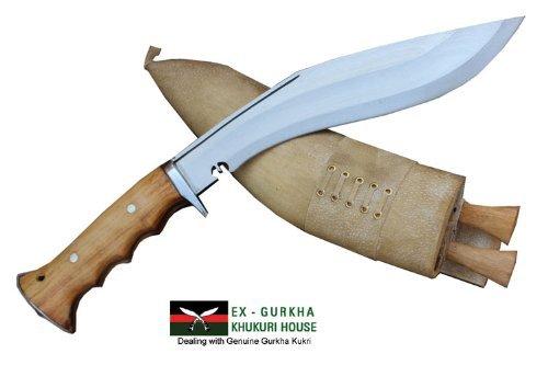 "Genuine Gurkha Hand Forged Kukri - 10"" Blade Authentic British Gurkha Iraqi Operation Gripper Blocker Handle Khukuri - By Ex"