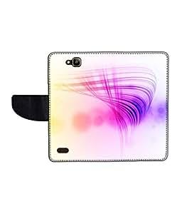 KolorEdge Printed Flip Cover For Huawei Honor Holly -Multicolor (50KeMLogo11337HonorHolly)