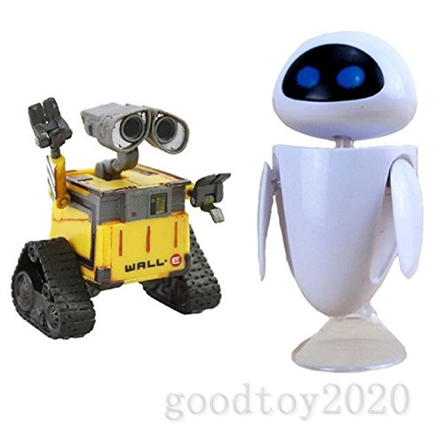 Set of 2pcs Pixar Wall-E and Eee-Vah EVE Action Figure Loose Hot