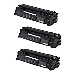 Generic 3 Pack CE505A (05A) Compatible Toner Cartridge For HP Laser Jet P2035, P2035n, P2055, P2055d, P2055dn, P2055x Printers