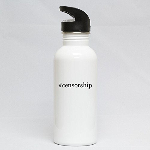 #censorship - Hashtag White 20oz Water Bottle