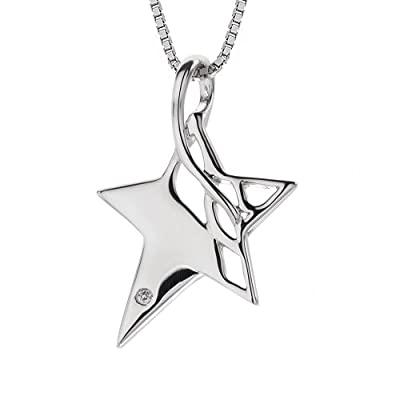Hot Diamonds Arabesque Eclipse Star Silver And Diamond Pendant 41 cm + 5 cm extender