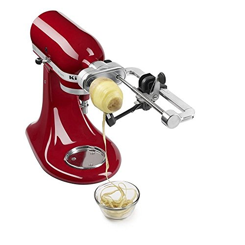 Premium Metal Optional Function Fruit Processor & Spiral Slicer Attachment with Peel, Core and Slice for Kitchen Mixer (Mixer Drill Attachment compare prices)