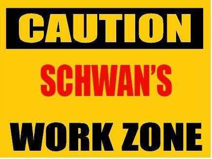 6-caution-schwan-work-zone-vinyl-decal-bumper-sticker