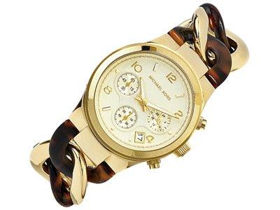 Michael Kors Mk4222 Chain Bracelet Gold/Tortoise Watch