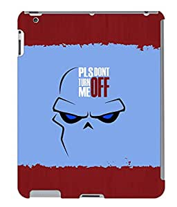 Fuson 3D Printed Quotes Designer back case cover for Apple iPad 4 - D4283
