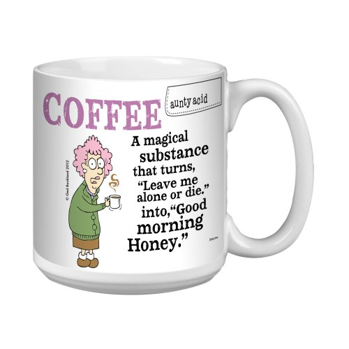 Tree-Free Greetings Xm27794 Aunty Acid Artful Jumbo Mug, 20-Ounce, Magical Substance