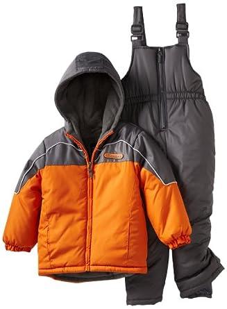 IXtreme Little Boys' Tonal Colorblocked Snow Suit, Orange, 6