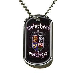 Motorhead Ace of Spades England Lemmy Official Black Dog Tag Necklace from DOG TAG / Militärische Erkennungsmarke / Kettenanhänger