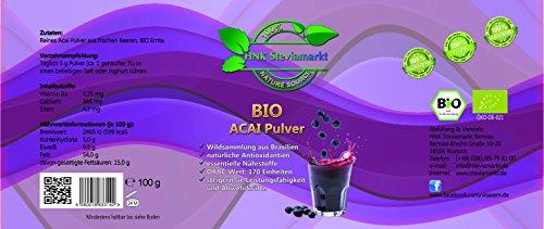 BIO Acai Pulver pur (Euterpe oleracea), 1er Pack (1 x 100g)