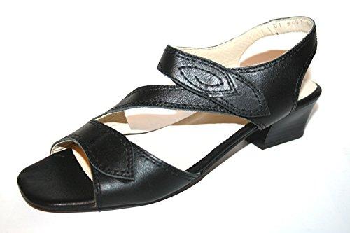 Fortuna Alina Ago 486001-03 Damen Schuhe Sandalen Schwarz (schwarz 001), EU 38.5 (UK 5.5) Weite H