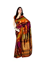 Meher Silk Autumn Allure Printed Saree (SD18102_Yellow)
