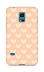 Amez designer printed 3d premium high quality back case cover for Samsung Galaxy S5 Mini (cats1)