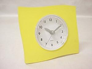 Reloj De Pie Sobremesa Grande Cuadrado Amarillo por www.working-house.com