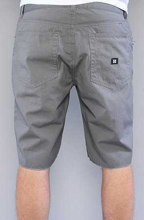 KR3W Canvas Cut Off Short in Grey,Shorts for Men