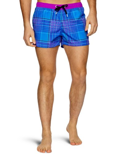 Bjorn Borg Tonal Check Side Pocket Men's Swim Shorts Electric Blue Small