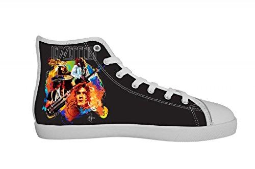 Rock Band Led Zeppelin Women's Canvas Shoes Women White High Top Canvas Shoes-5M US