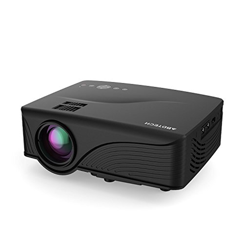 Abdtech-1200-Lumens-Mini-LED-Multimedia-Home-Theater-Projector-Max-120-Screen-Optical-Keystone-USBAVSDHDMIVGA-Interface-Ideal-for-Video-Games-Movie-Night-Family-Videos-and-Pictures