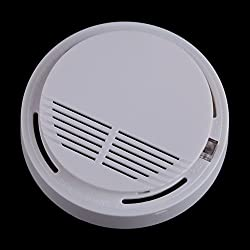 New Home Security Fire Sensor Alarm White Photoelectric Cordless Smoke Detector FG