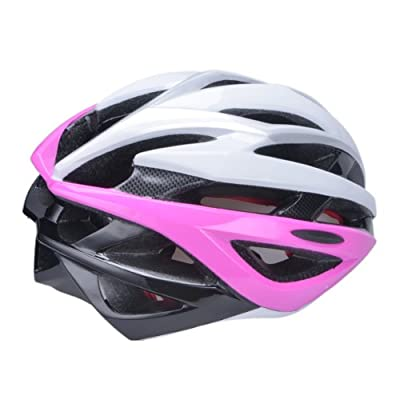 Men's Women's Mountain Bike Bicycle cyclying&Skates Helmets Adjustable in Pink Size:53-58cm by Guanshi