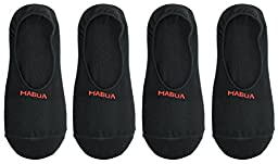 Mabua Breathable NON SLIP No Show Socks, 4 Pairs Large