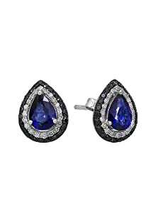 Effy Jewlery Gemma Blue Sapphire and Diamond Earrings, 1.82 TCW