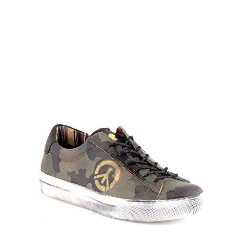 Felmini - Scarpe Donna - Innamorarsi com Fame A289 - Sneakers Militare - Pelle Genuina - Multicolore - 39 EU Size