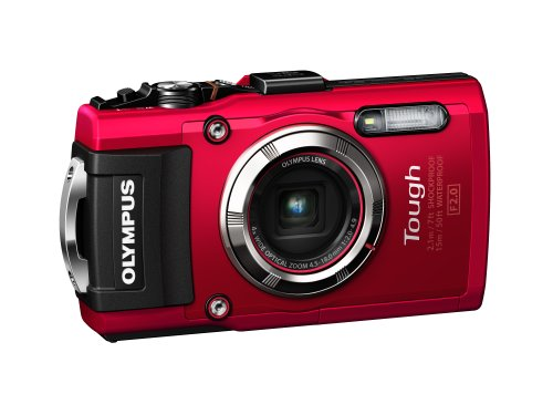 Olympus TG-3 Waterproof 16 MP Digital Camera (Red) Big Discount