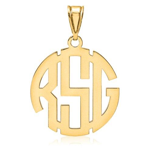 Classic-Monogram-Pendant-14K-Gold-Custom