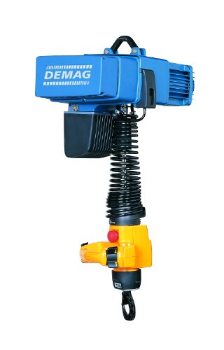 Demag 93256646 Variable Speed Manulift Electric Chain Hoist, 550 lbs Capacity, 9' Lift Height, 0-52 FPM Lift Speed